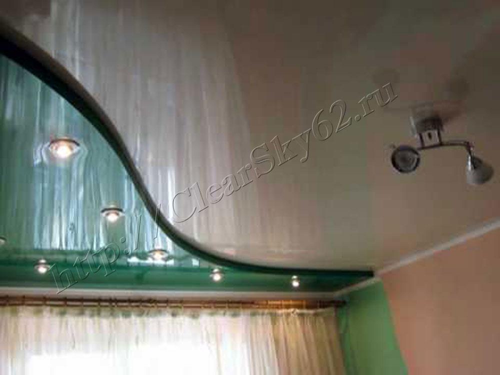 Дизайны двухуровневых потолков